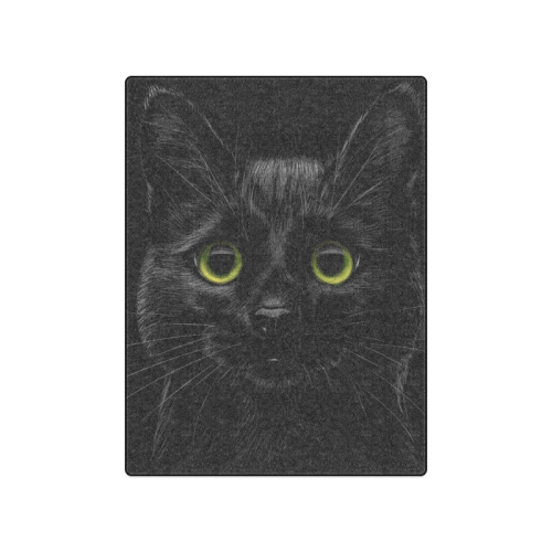 "Black Cat Blanket 50""x60"""