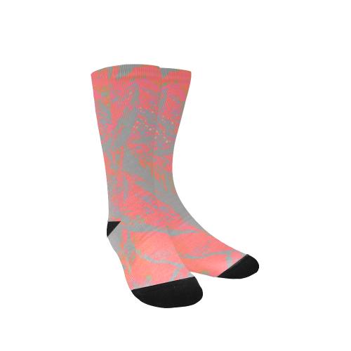 Maroon Deep Party Night Wear Crew Custom Socks for Women