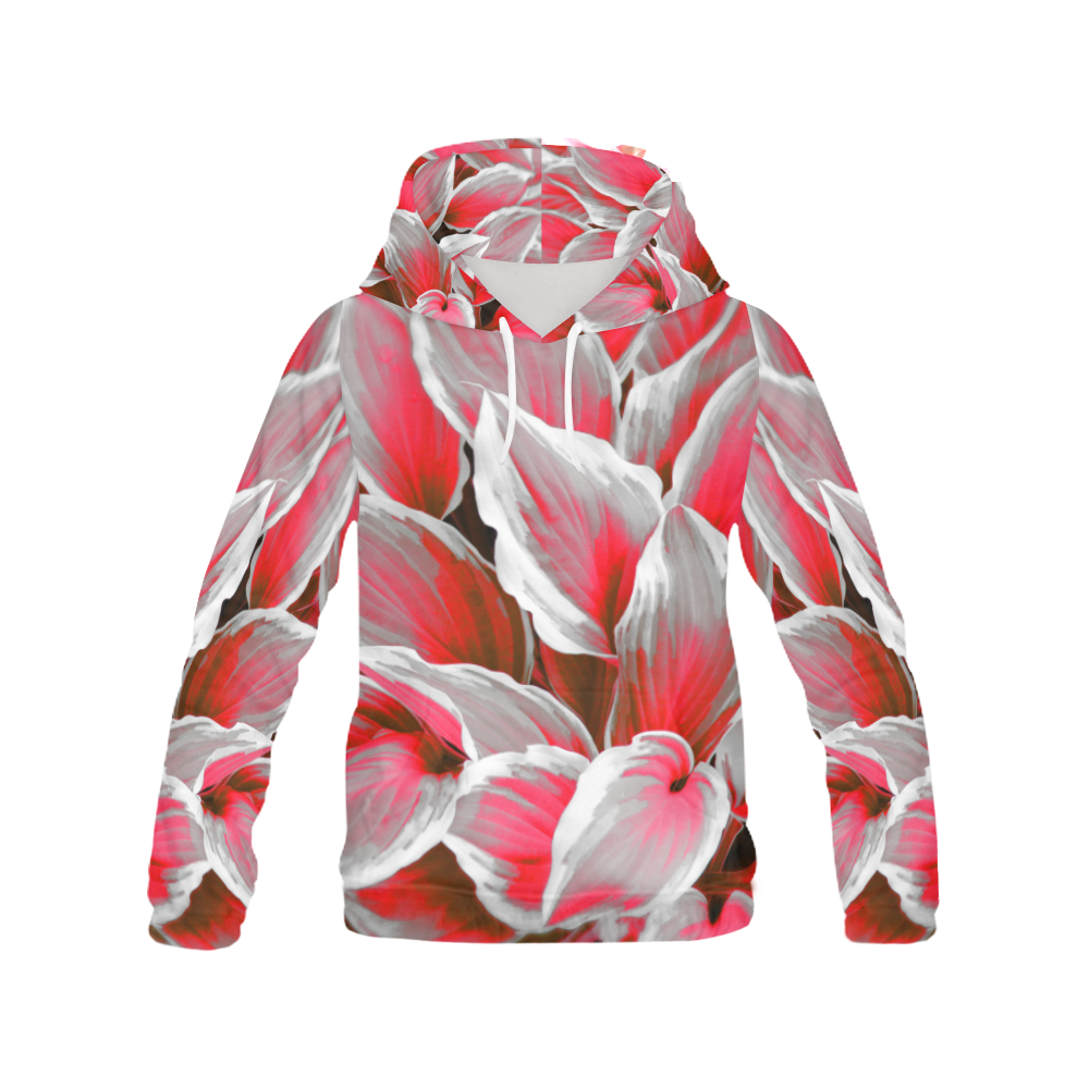 leafs_abstract 09 All Over Print Hoodie (for Women)