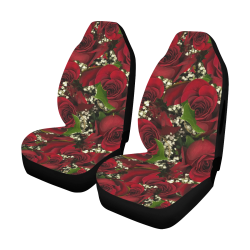 Carmine Roses Car Seat Cover Airbag Compatible (Set of 2)