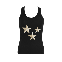 Star Trio Women's Shoulder-Free Tank Top (Model T35)