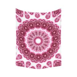 "Love And Spiritual Rose Quartz Healing Energy Source Blacklight Mandala Magick Cotton Linen Wall Tapestry 60""x 80"""