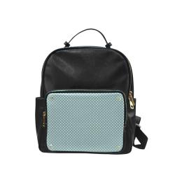 Silver blue polka dots Campus backpack/Large (Model 1650)