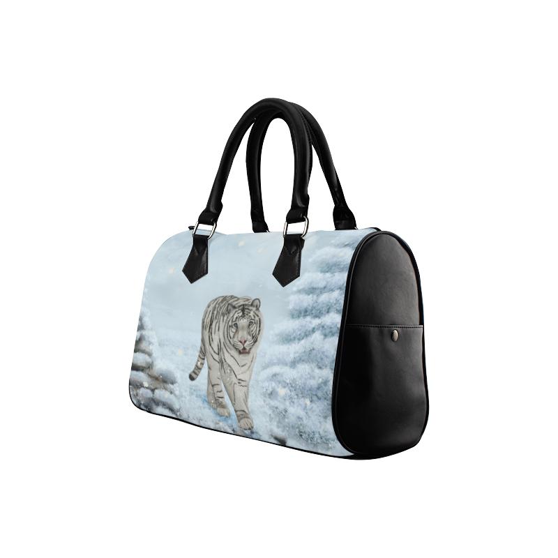 Wonderful siberian tiger Boston Handbag (Model 1621)