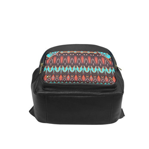 K172 Wood and Turquoise Abstract Campus backpack/Large (Model 1650)