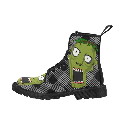 Men's Zombie Boots Martin Boots for Men (Black) (Model 1203H)