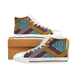 Basketball Top 6 Women's Classic High Top Canvas Shoes (Model 017)
