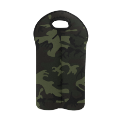 Camo Green 2-Bottle Neoprene Wine Bag