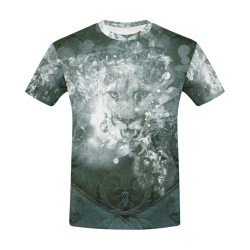 White lion All Over Print T-Shirt for Men (USA Size) (Model T40)