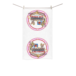 "LasVegasIcons Poker Chip - Pink Custom Towel 16""x28"""