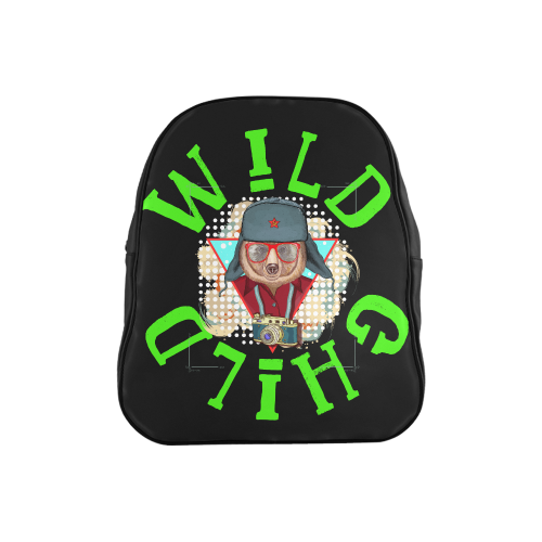 Wild Child Animal Print Small School Backpack School Backpack (Model 1601)(Small)