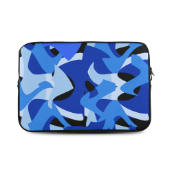 Camouflage Abstract Blue and Black Custom Sleeve for Laptop 17""