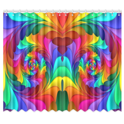 "RAINBOW CANDY SWIRL Window Curtain 50""x84""(Two Piece)"
