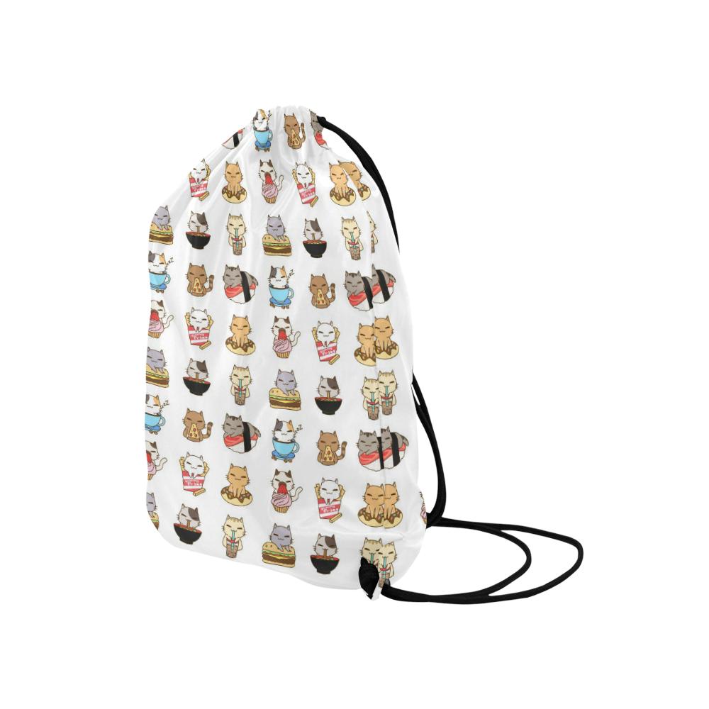 "white Medium Drawstring Bag Model 1604 (Twin Sides) 13.8""(W) * 18.1""(H)"