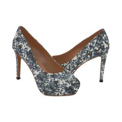 Urban City Black/Gray Digital Camouflage Women's High Heels (Model 044)