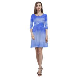 Blue Clouds Tethys Half-Sleeve Skater Dress(Model D20)