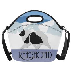 Keeshond  Rockin the Rockies 3 Neoprene Lunch Bag/Large (Model 1669)