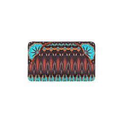 "K172 Wood and Turquoise Abstract Pet Bed 22""x13"""