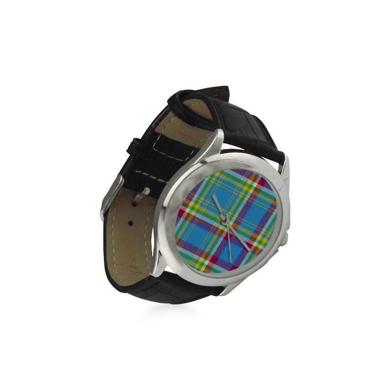 Yukon Tartan Women's Classic Leather Strap Watch(Model 203)