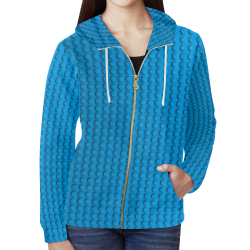 PLASTIC All Over Print Full Zip Hoodie for Women (Model H14)