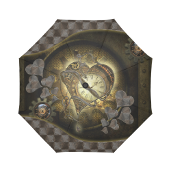 Awesome steampunk heart Auto-Foldable Umbrella (Model U04)