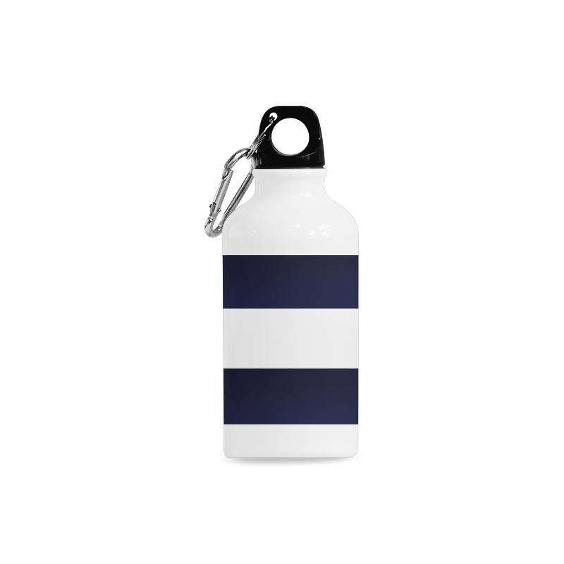 Blue White Stripes Cazorla Sports Bottle(13.5OZ)