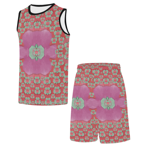 fantasy flowers in everything All Over Print Basketball Uniform