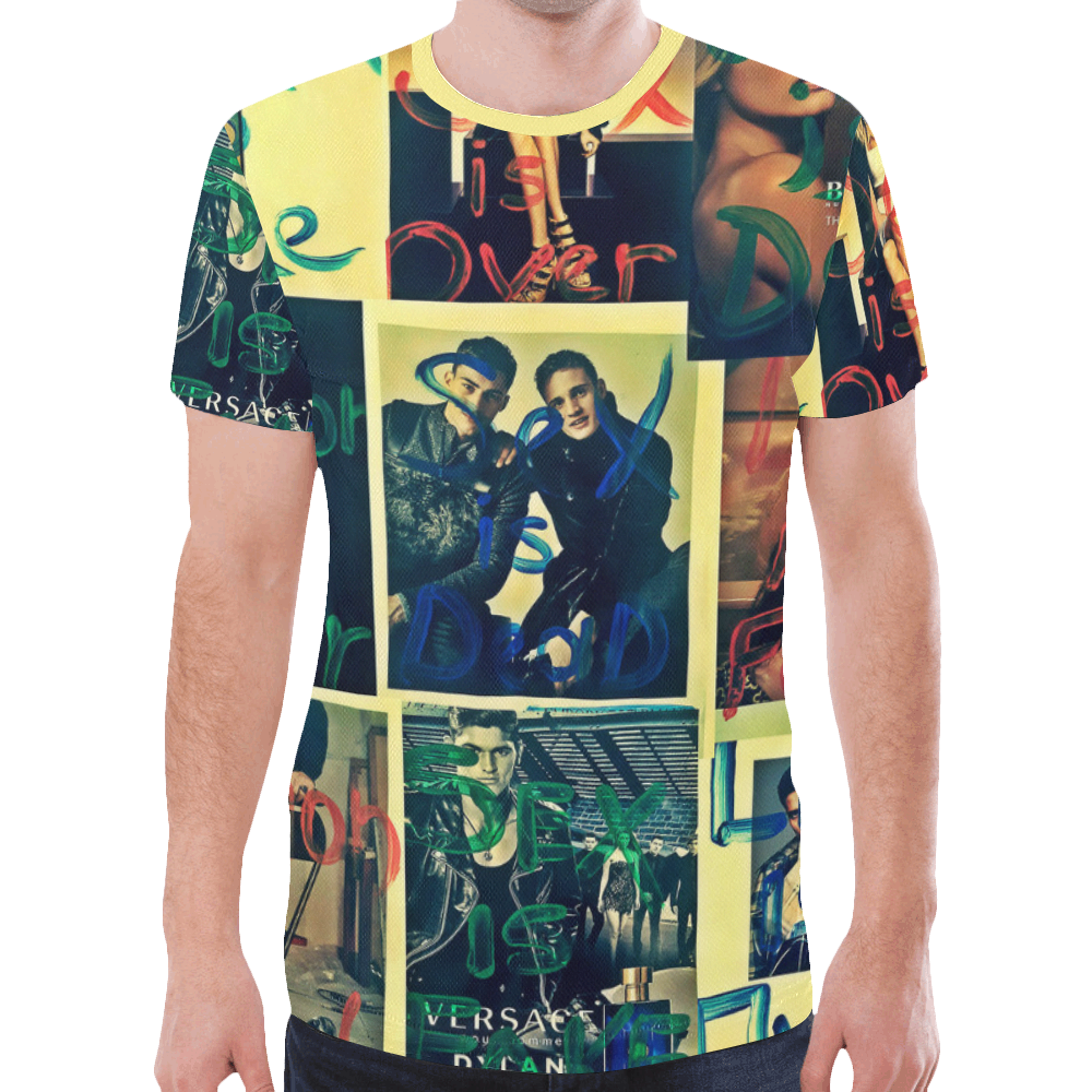 IS edit New All Over Print T-shirt for Men (Model T45)