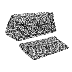 Black And White Filigree Custom Foldable Glasses Case