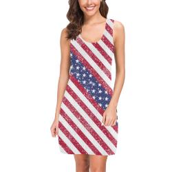 American Flag Distressed Medea Vest Dress (Model D06)