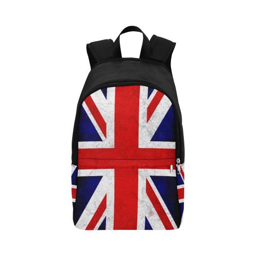 United Kingdom Union Jack Flag - Grunge 2 Fabric Backpack for Adult (Model 1659)