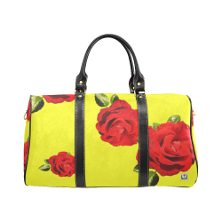 Fairlings Delight's Floral Luxury Collection- Red Rose Waterproof Travel Bag/Small 53086e20 New Waterproof Travel Bag/Small (Model 1639)