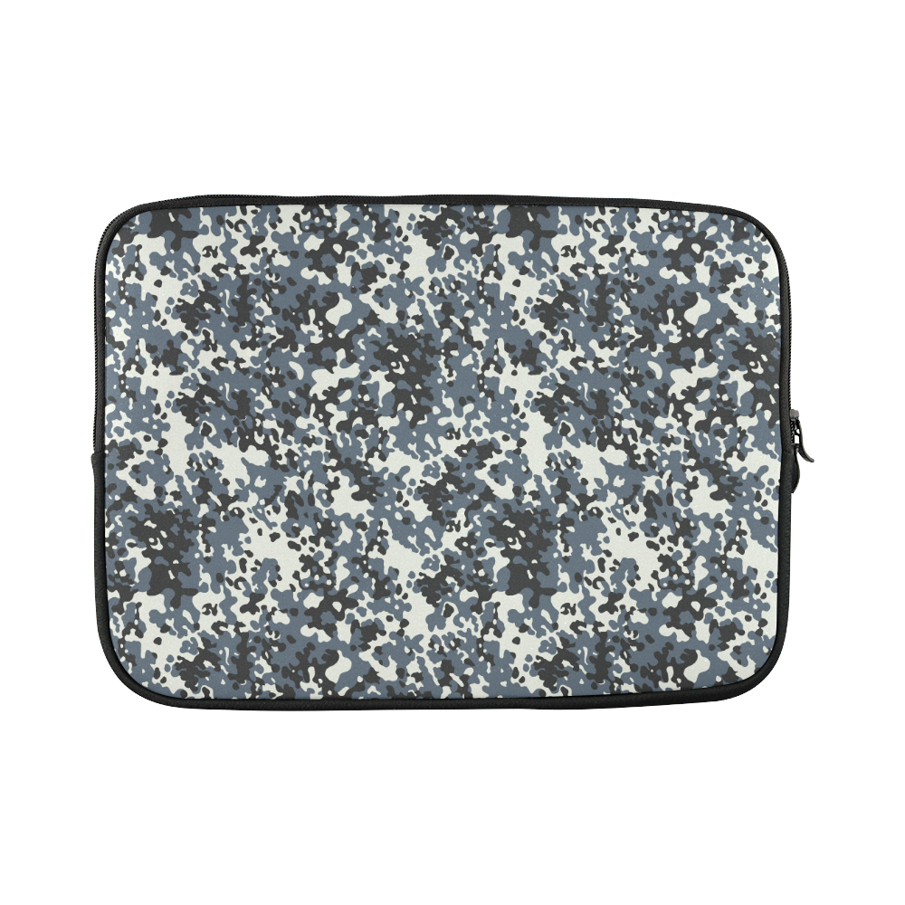 Urban City Black/Gray Digital Camouflage Custom Sleeve for Laptop 15.6""