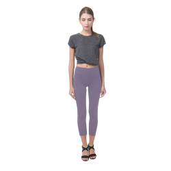 Grape Compote Capri Legging (Model L02)