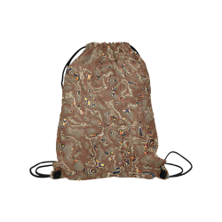 "70s chic moire 4 Medium Drawstring Bag Model 1604 (Twin Sides) 13.8""(W) * 18.1""(H)"
