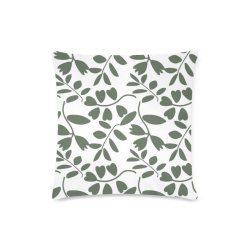 "Funny leaves Custom Zippered Pillow Case 16""x16""(Twin Sides)"