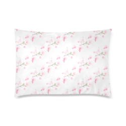 """Pattern Orchidées Custom Zippered Pillow Case 20""""x30""""(Twin Sides)"""