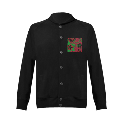 Red, Green and Black Abstract 2020 Women's Baseball Jacket (Model H12)