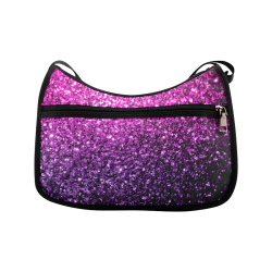 Beautiful Purple Pink Ombre glitter sparkles Crossbody Bags (Model 1616)