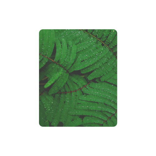 Forest Green Plants with Dew Photo Rectangle Mousepad