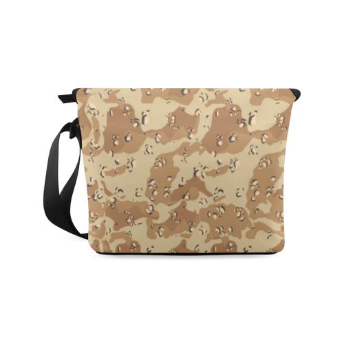 Vintage Desert Brown Camouflage Crossbody Bag (Model 1631)