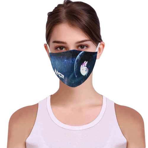 Ravicorn in Space Mask 3D Mouth Mask with Drawstring (2 Filters Included) (Model M04) (Non-medical Products)