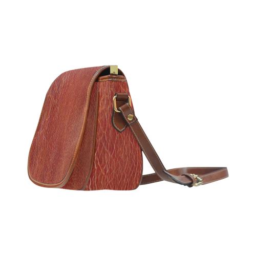 CRACKED LEATHER 3 Saddle Bag/Large (Model 1649)