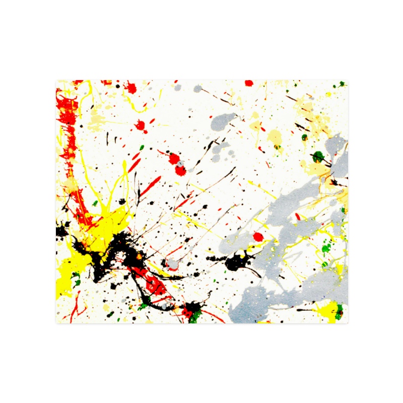 "Yellow & Black Paint Splatter Poster 20""x24"""