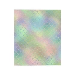 "Pastel Mermaid Sparkles Quilt 50""x60"""