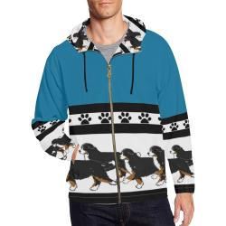 best berner  zip hoodie All Over Print Full Zip Hoodie for Men (Model H14)