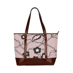 Exquisite lace pattern background 01 2 Tote Handbag (Model 1642)