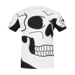 Billy Bong Skull Skate Tee All Over Print T-Shirt for Men (USA Size) (Model T40)