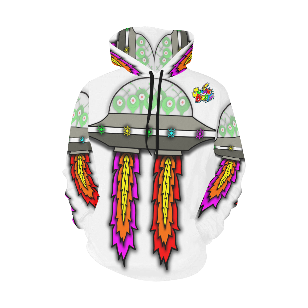 JUNGLEBIRDY - UFO HOODIE All Over Print Hoodie for Men (USA Size) (Model H13)