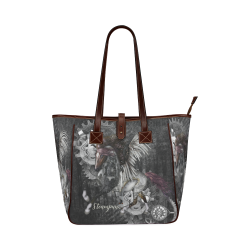Aweswome steampunk horse with wings Classic Tote Bag (Model 1644)